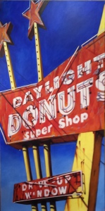 "Daylight Donuts 24"" x 48"" Acrylic on Canvas"