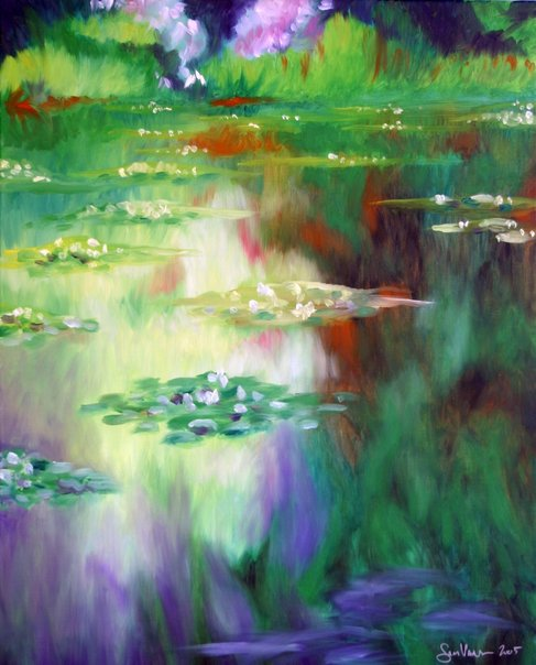 Water Reflection with Lilies