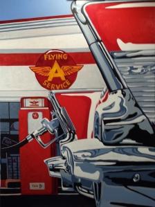 Flying A Service Acrylic on Canvas 20 x 30